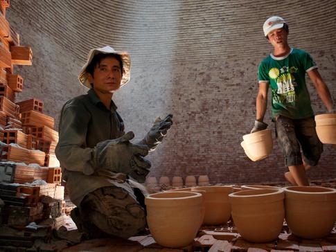 Pots and bricks