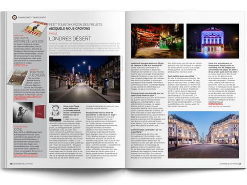 Feature in Le Monde de la Photo magazine