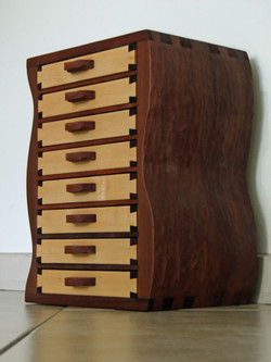 Maple and jarrah drawers