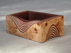 Small veneered box