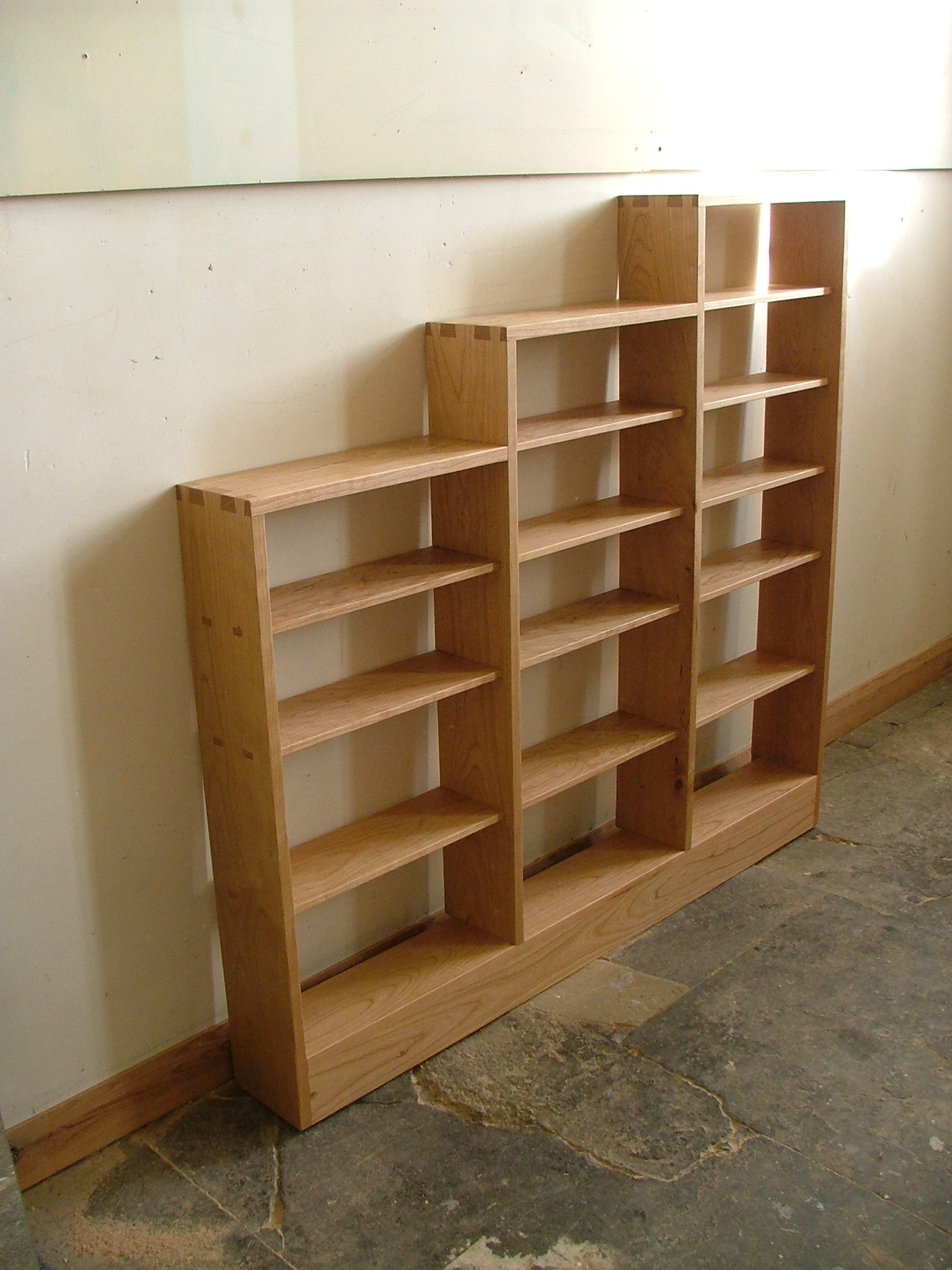 Stepped CD rack