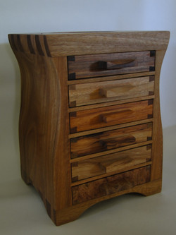 Drawers in six woods