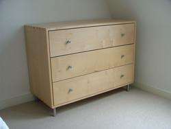 Dovetail maple drawers