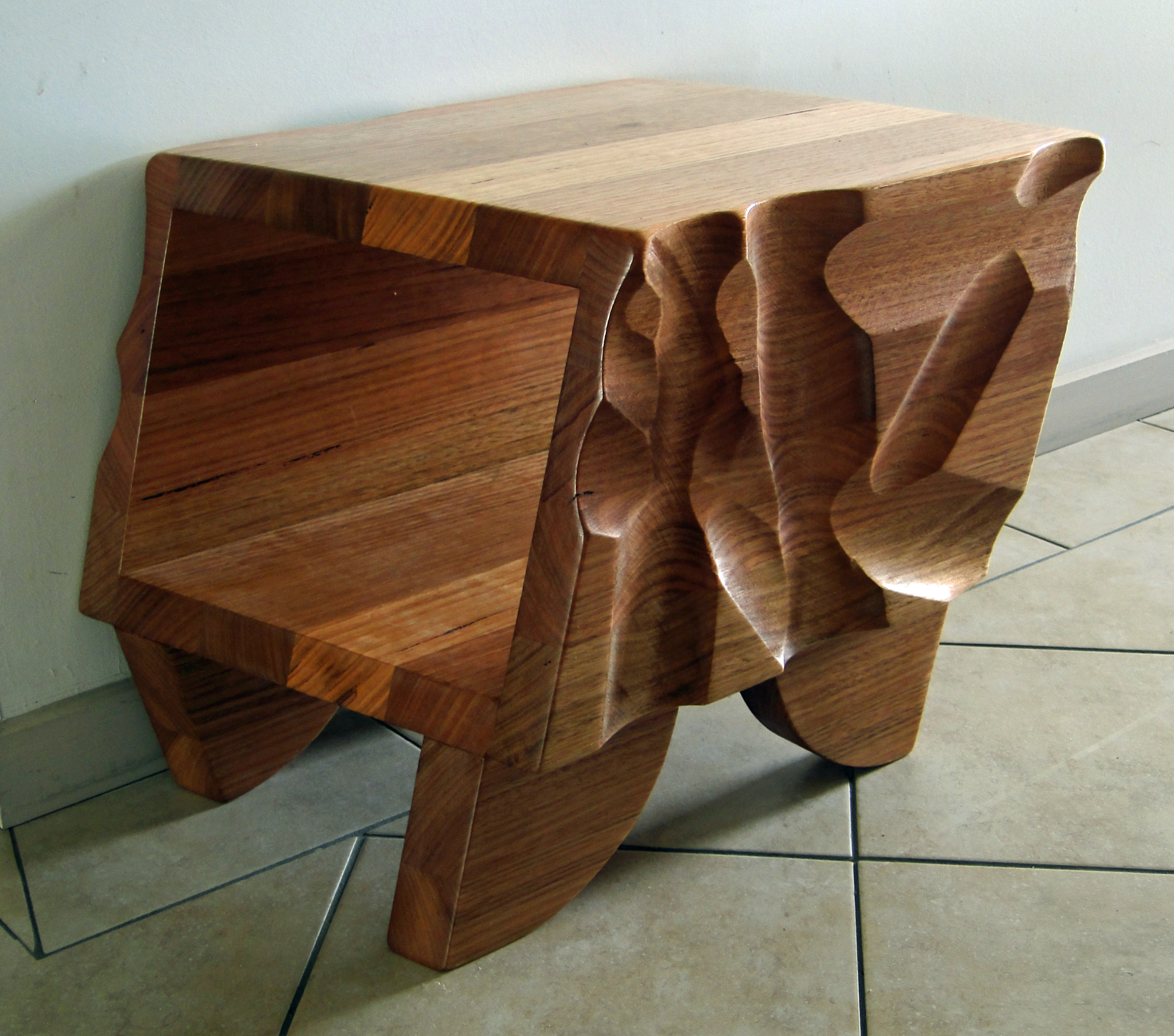 Textured coffee table