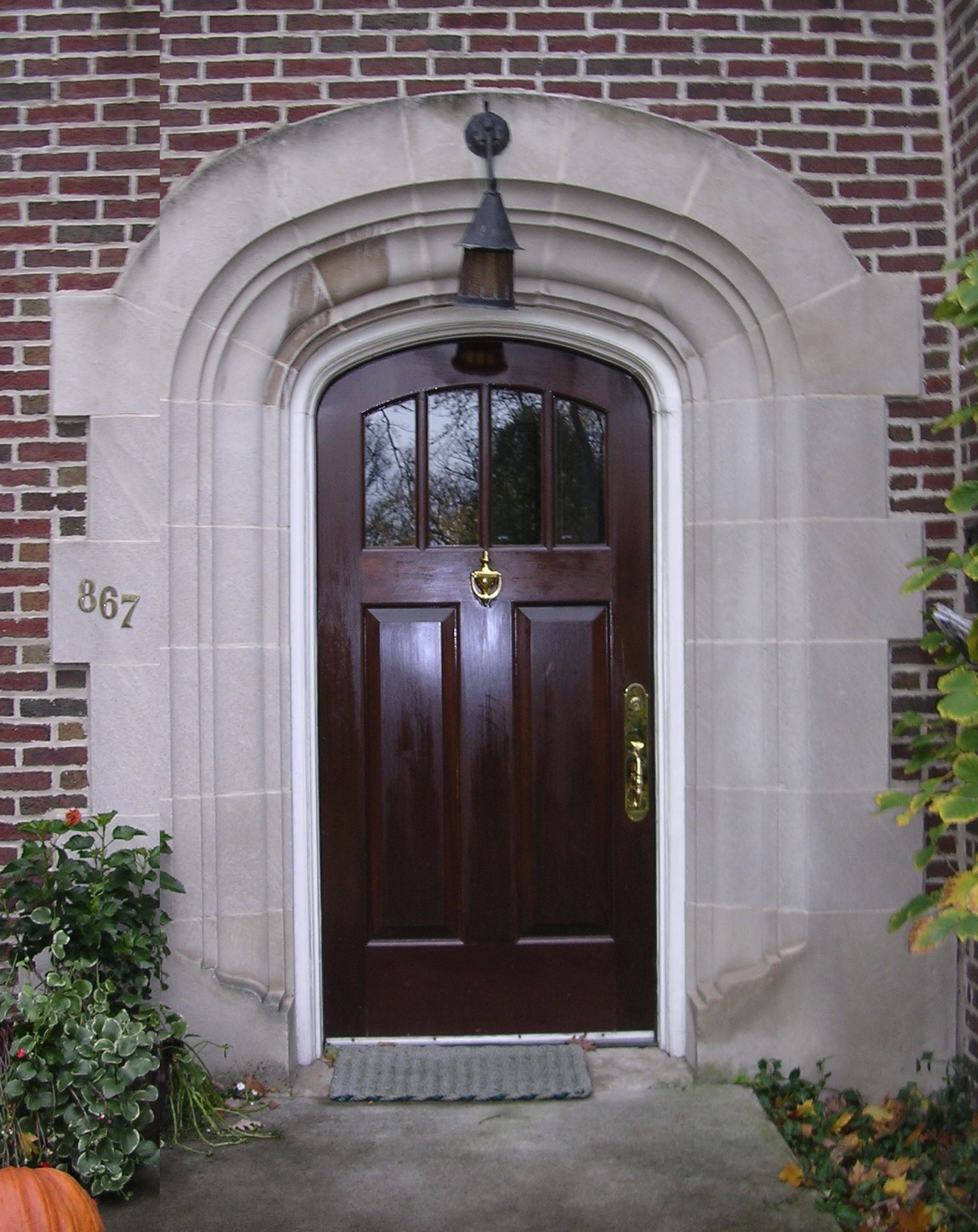 White Oak Entry Door, Private Residence Wilmette