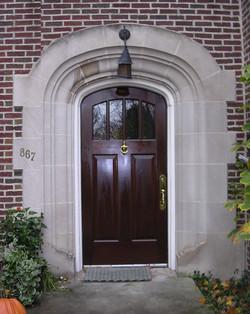 White Oak Entry Door, Private Residence Wilmette
