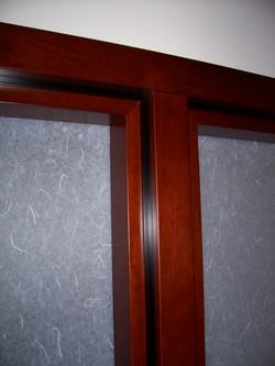 Shoji Screen Doors, Cherry with Black Inlays