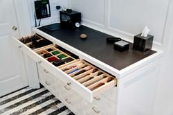 Custom Maple Dividers & Black Leather Top
