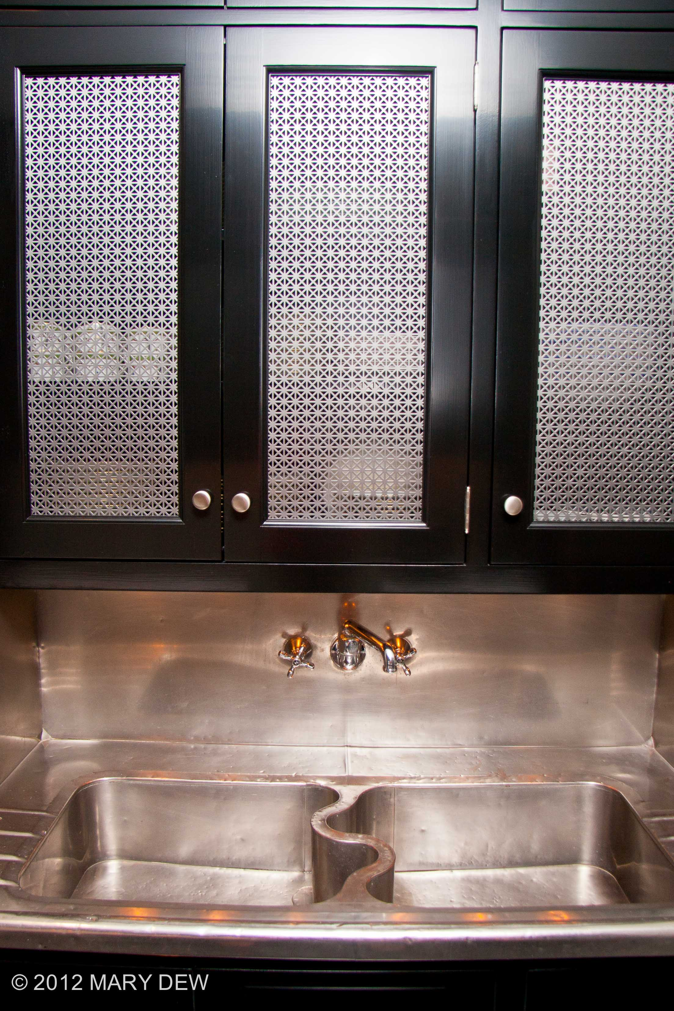 Antique Stainless Sink & Plated Grills