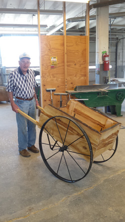 Refurbished Wooden Pull Cart 2016