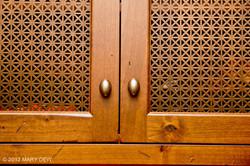 Alder Distressed Door with Plated Grills