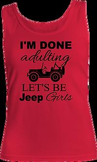 Done Adulting Ladies Tank