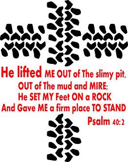"15"" Tire Cross; Psalm 40:2"