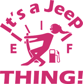 It's a Jeep Thing Gas Gauge Girl