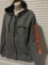 sweatshirt, custom apparel, hoodie that matches my jeep, full zip jacket, halloween, jeep, jeep girl, punkyn, pumkin, black, orange, grey