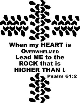 "10"" Tire Cross; Psalm 61:2"
