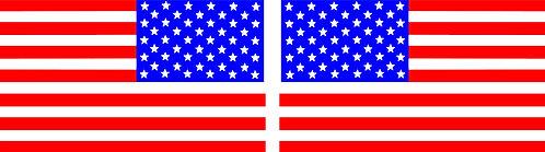 Red, White & Blue American Flag Pair