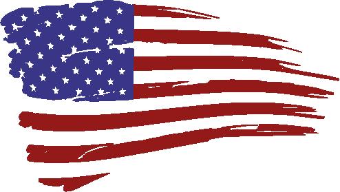 Pair of Distress American Flag RWB