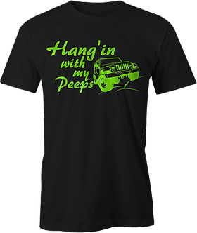 Hang'in with my Jeep Peeps GREEN LOGO