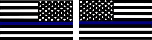 Thin Blue Line American Flag Pair