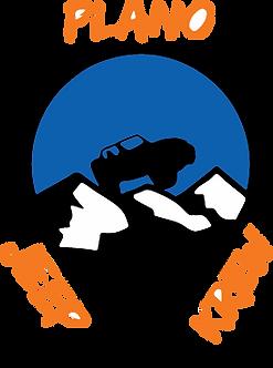 Plano Jeep Krew Decal - Blue & Orange