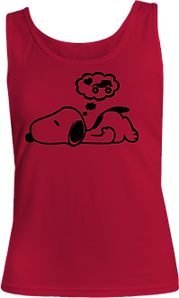 Day Dreaming Snoopy Ladies Tank