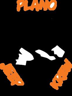 Plano Jeep Krew Decal - White & Orange