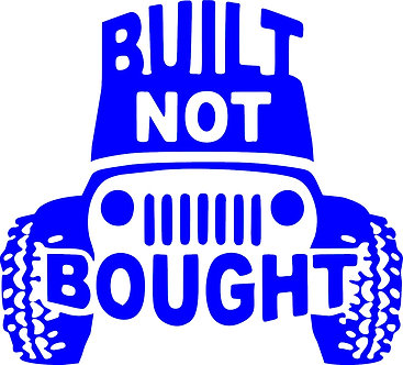 Built Not Bought Jeep