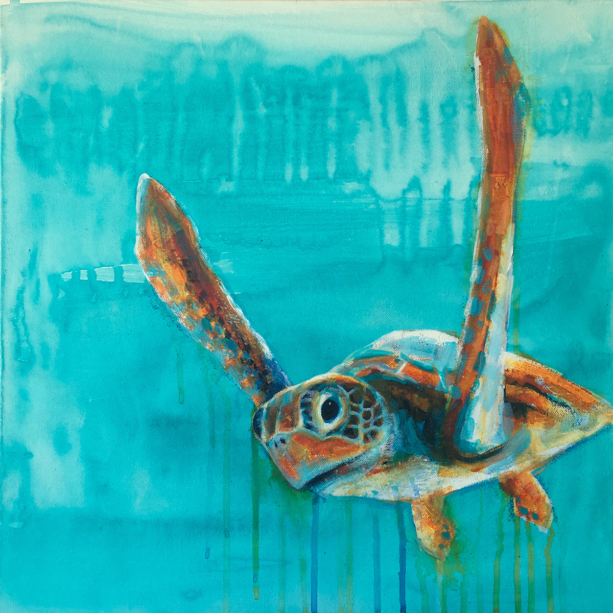 Sea turtle by Claudia Krauss