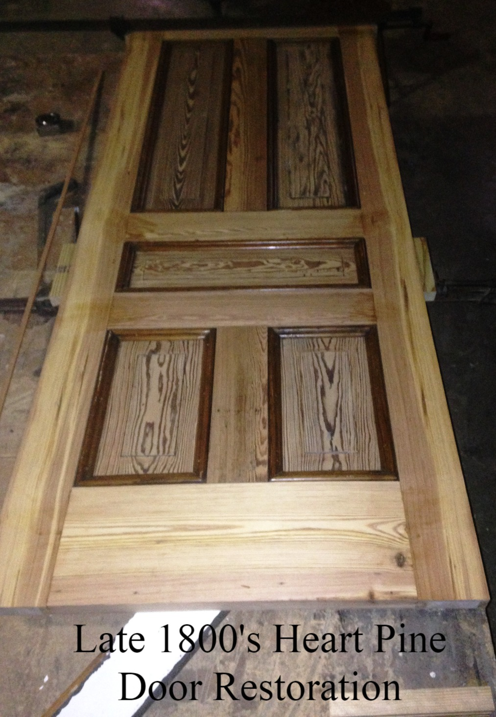 Heart Pine Door Restoration