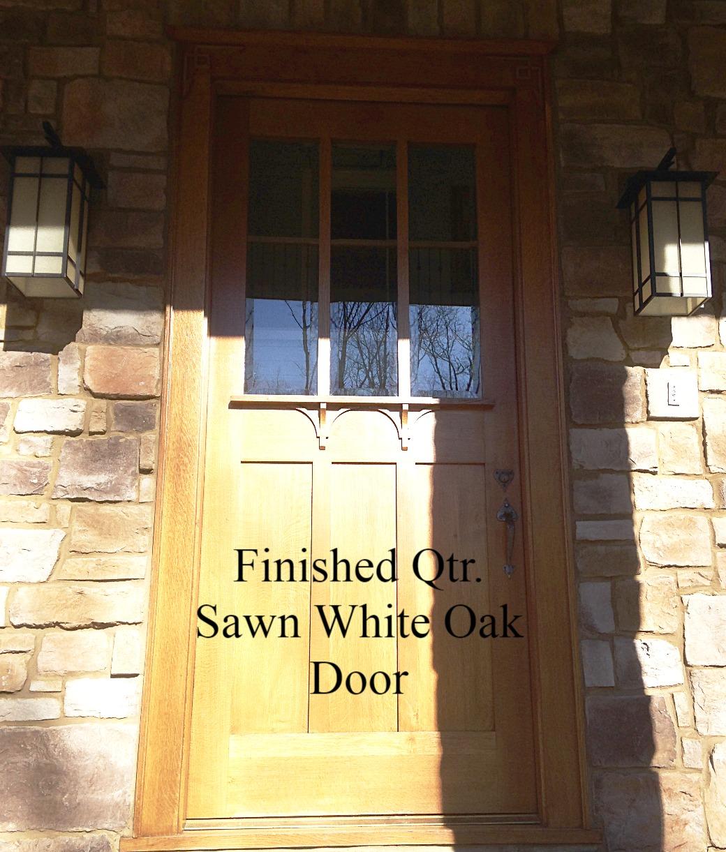 Qtr. Sawn White Oak Door