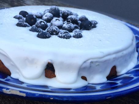Greek yoghurt, blueberry & lime cake