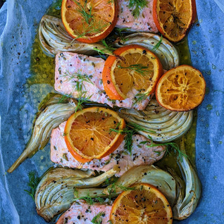 Orange & fennel baked salmon