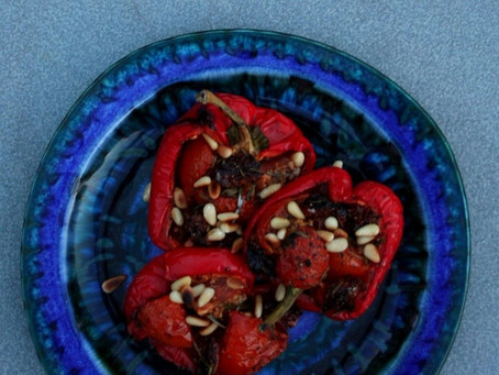 Mediterranean roasted peppers