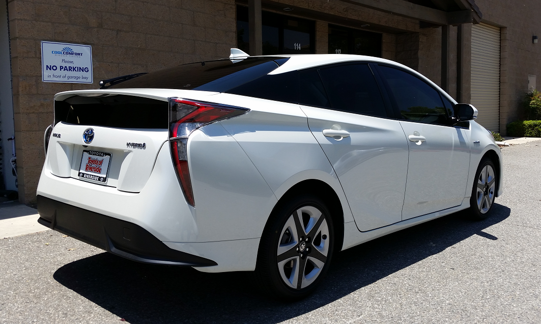 2016 Toyota Prius (White) 3 - Cool Comfort Window Tinting