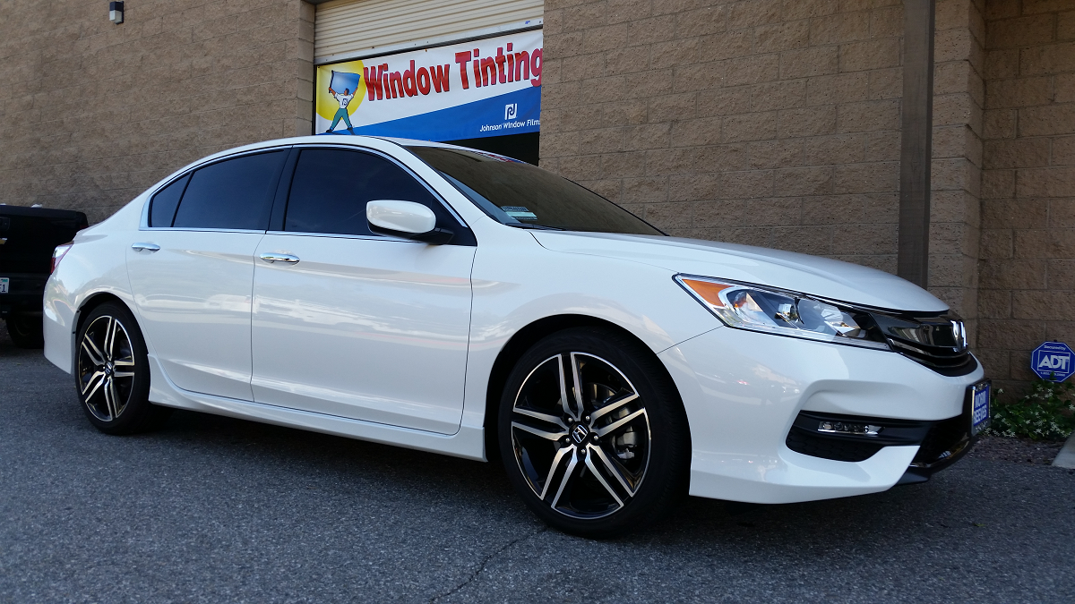 2016 White Honda Accord (2) - Cool Comfort Window Tinting
