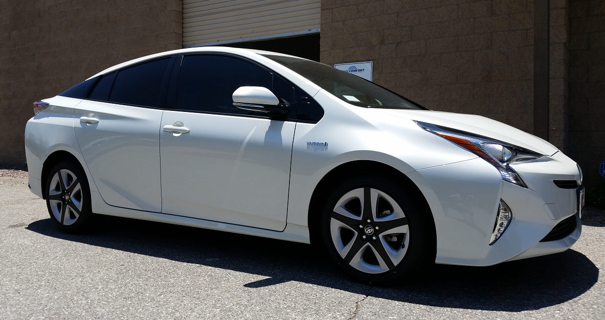 2016 Toyota Prius (White) 2 - Cool Comfort Window Tinting
