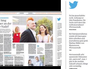 Terrassentalk beim Handelsblatt. Spannende Diskussion über die Zukunft des (digitalen) Journalismus.