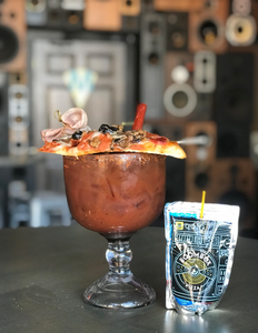 Pizza, Bloody Mary, Cocktail