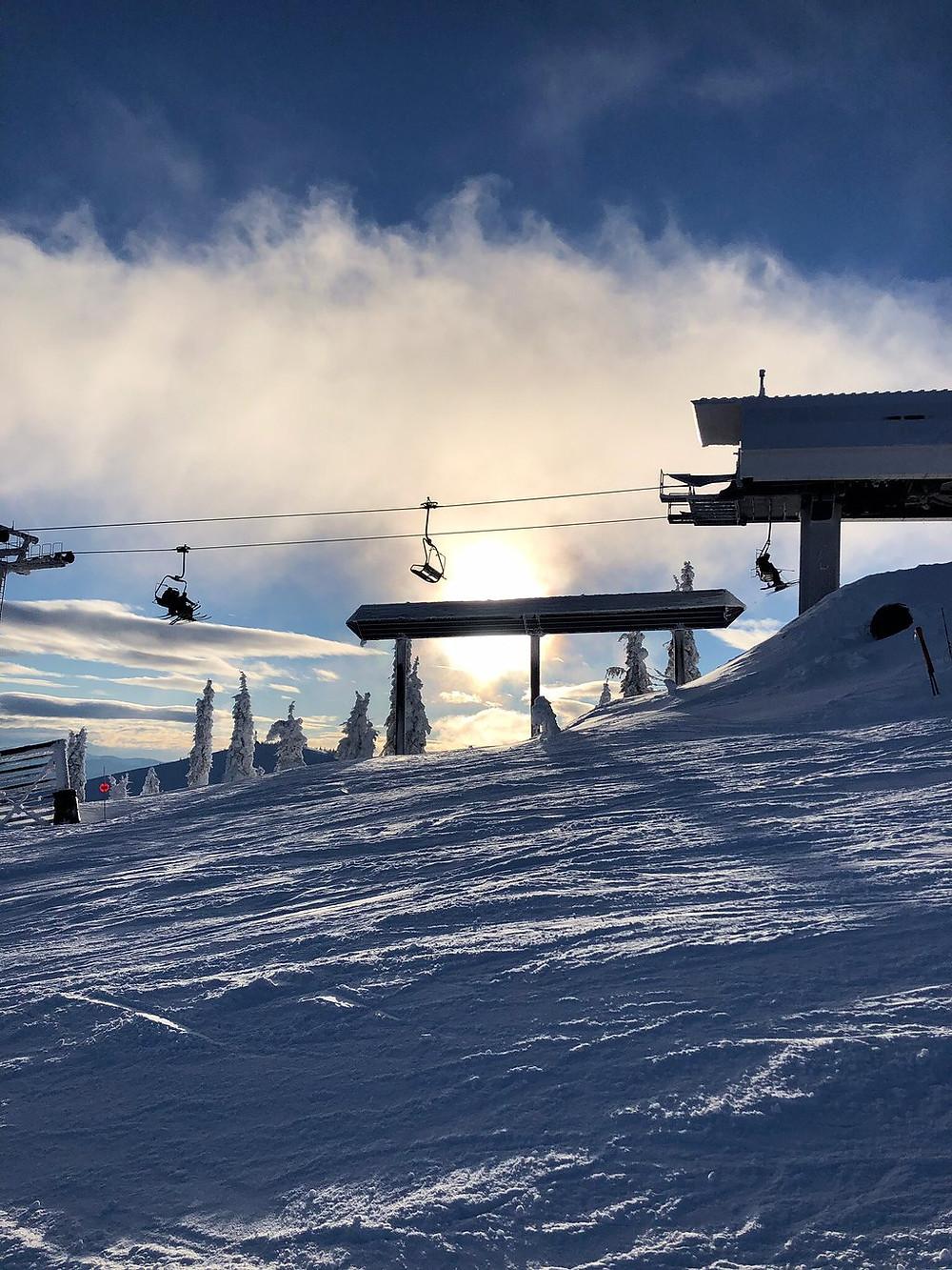 Schweitzer Ski Lift Vacation Spokane Coeur d'Alene Sandpoint Trip Road