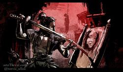 samurai dibujante
