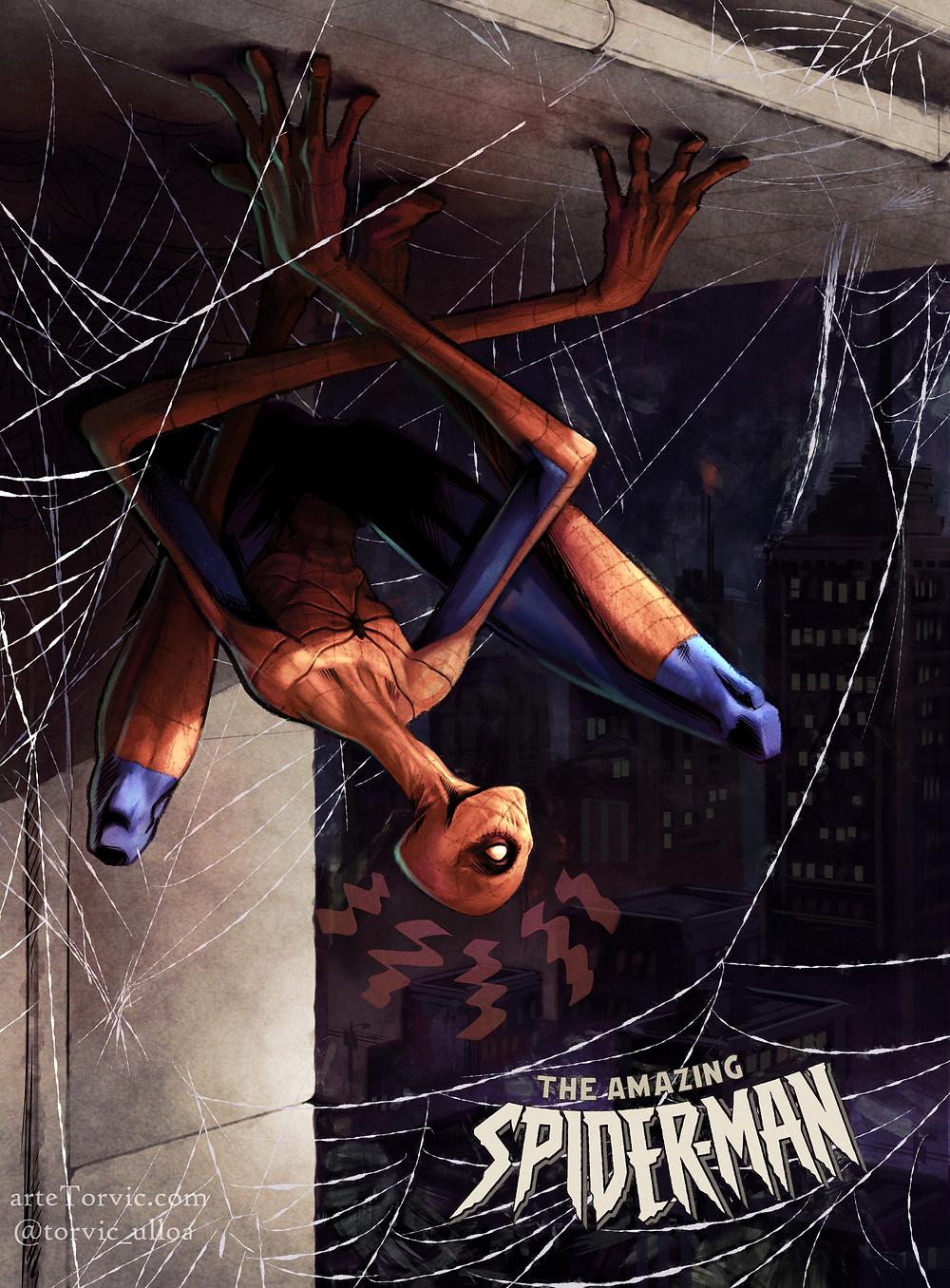 a little dark spiderman