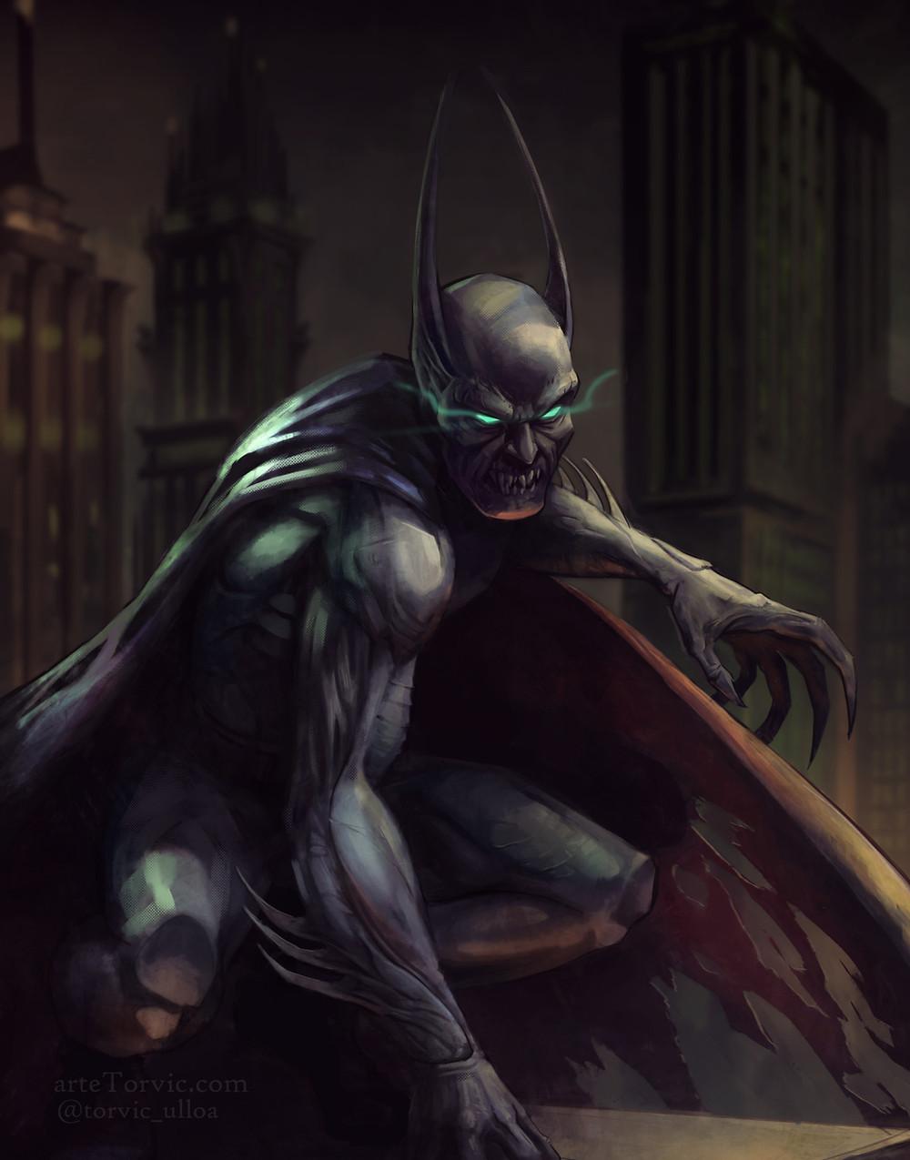 A little dark batman