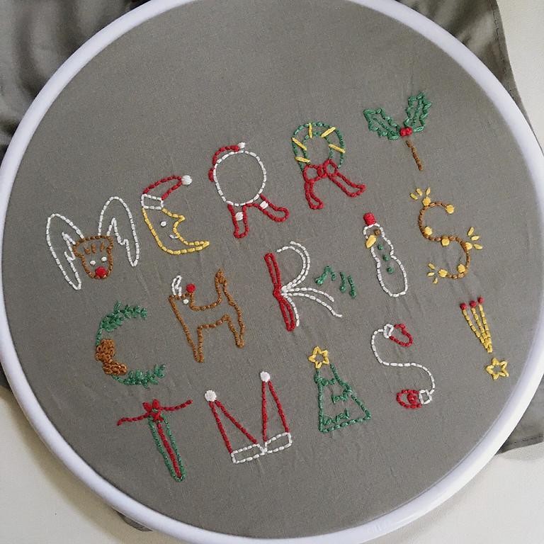 メリークリスマスの刺繍ワークショップ ②14:00〜 *残り3席です