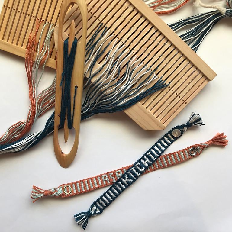 「バンド織りワークショップ ・アルファベットの模様織り」 9/26 *満席です