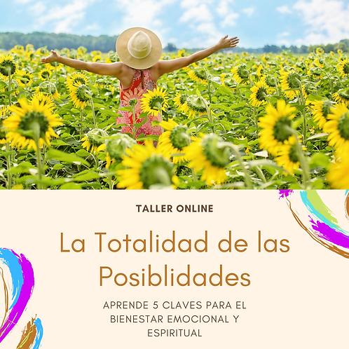 TALLER ONLINE LA TOTALIDAD DE LAS POSIBLILIDADES