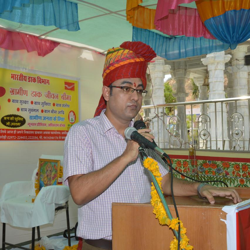 Address by Director Postal KK Yadav