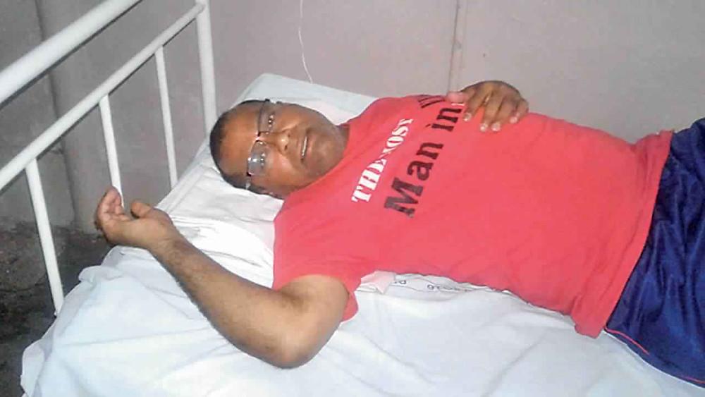 अस्पताल में भर्ती पूर्व अंतर्राष्ट्रीय तीरंदाज एवं अर्जुन पुरस्कार विजेता लिम्बा राम।