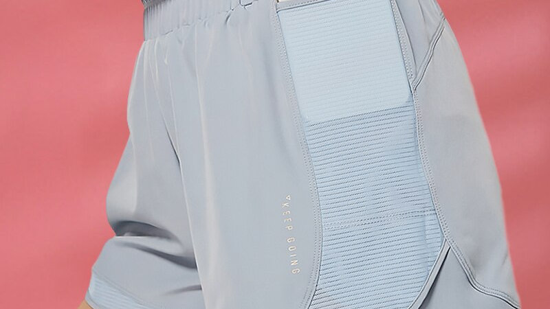 yoga shorts w/ workout pocket