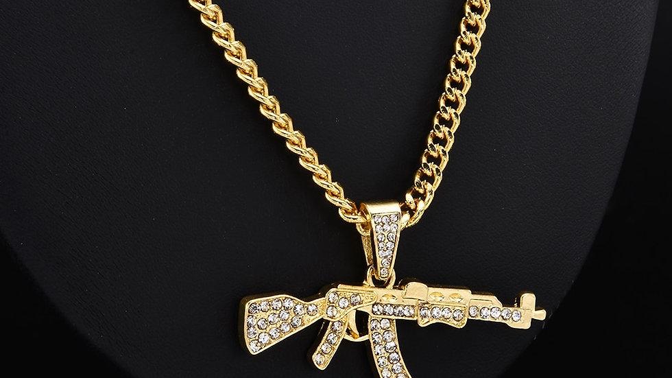 Fashion Choker Necklaces for Women 2020 Gun Pendant